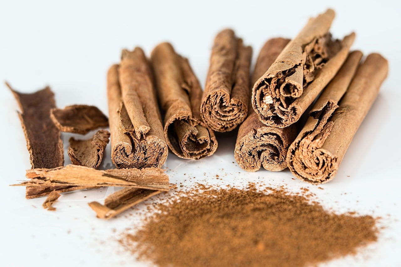cinnamon stick, cinnamon powder, spice